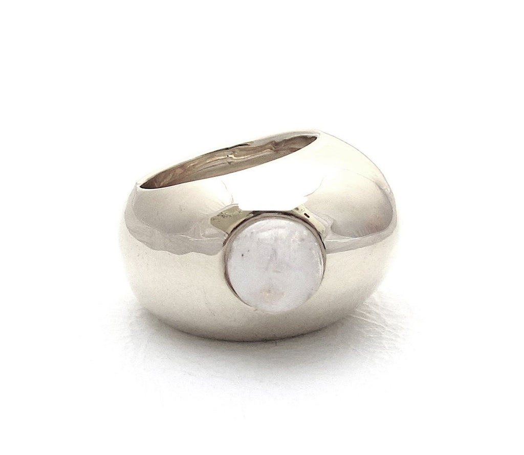 Pebble moonstone ring