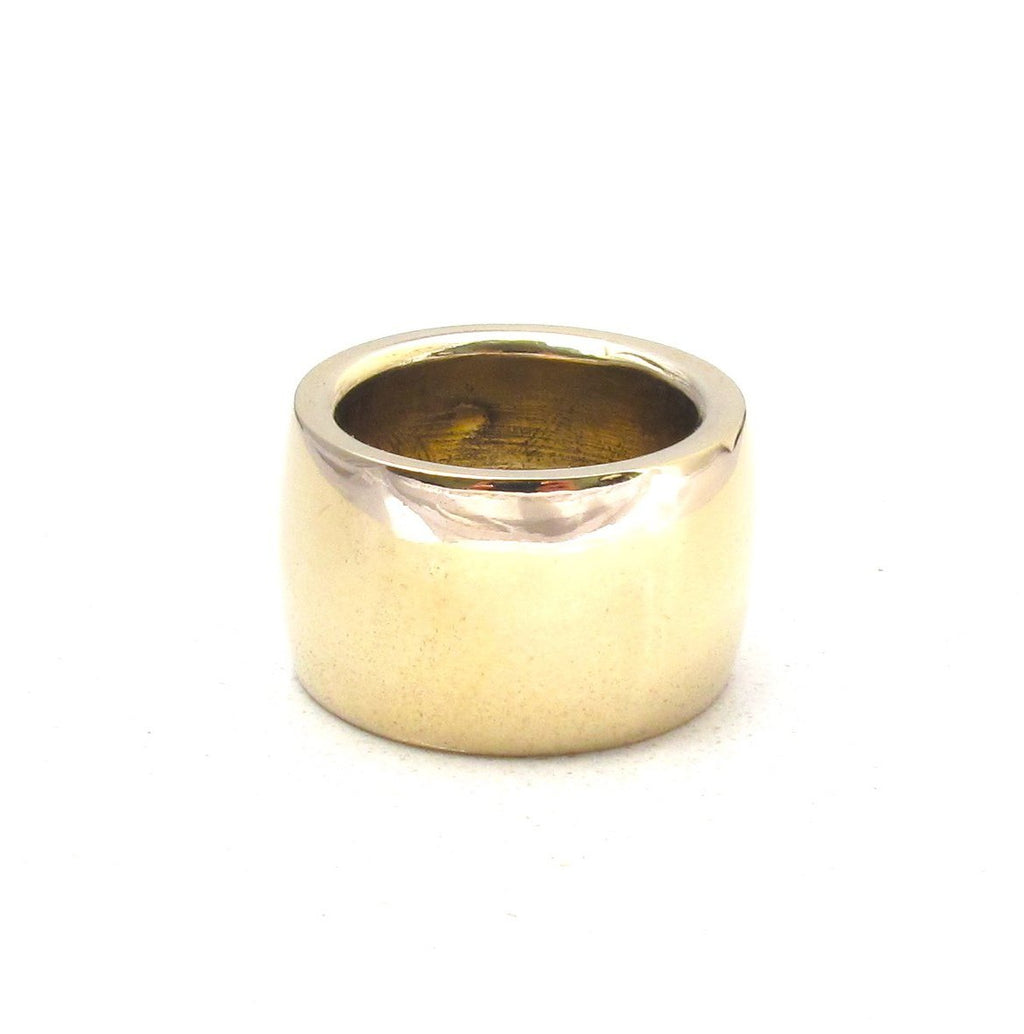 Wide band ring, Gold Wide band ring, Silver Wide band ring