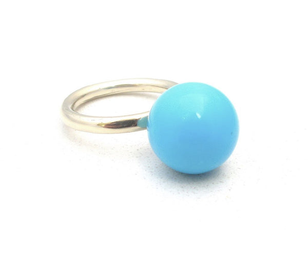 Turquoise Globe, silver+ more options