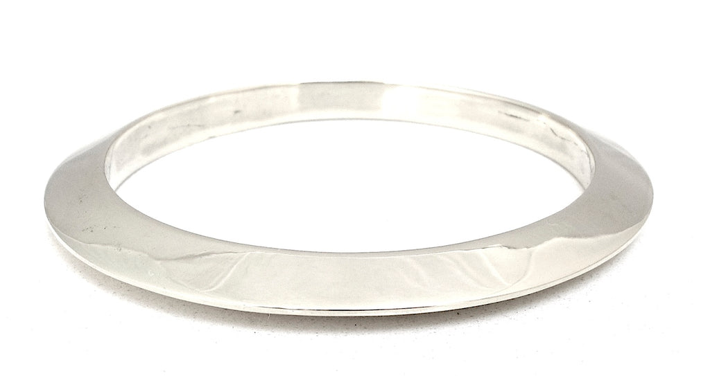 Wedge bangle, silver