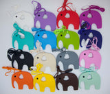 Elephant Pendant Silicone Teething Necklace For Moms and Teething And Nursing Babies BPA Free Chewable Teething Necklace
