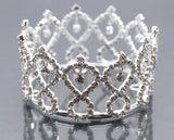 Mini Tiara Crown for Newborn - Baby Photo Prop Crystal and Rhinestone Silver Wire Star #5011