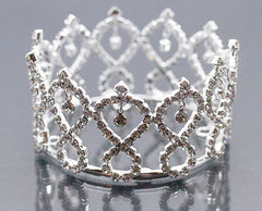 Mini Tiara Crown for Newborn - Baby Photo Prop Crystal and Rhinestone Infinity Drop #5012
