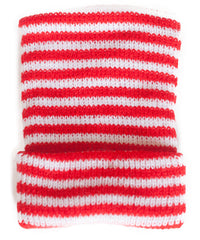 Red and White Striped Knit Newborn Hospital Hat - Baby Beanie - Craft Supplies