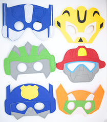 Rescue Bots Party Masks, Rescue Bots Birthday, Rescue Bots Party, Transformer Birthday, Rescue Bots Party Favors, Transformers