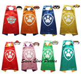 Personalized Paw Print Paw Patrol Cape and Masks set Solid costume Party Favor Birthday