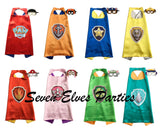 Personalized LOGO Paw Patrol Cape and Masks set Solid costume Party Favor Birthday