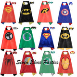 Personalized Superhero Cape and Masks set Solid costume Party Favor Birthday