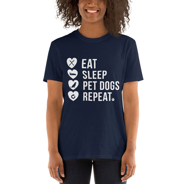 Eat Sleep PetDogs Repeat T-Shirt