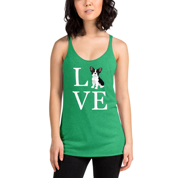 LOVE Dogprint Women Racerback Tank