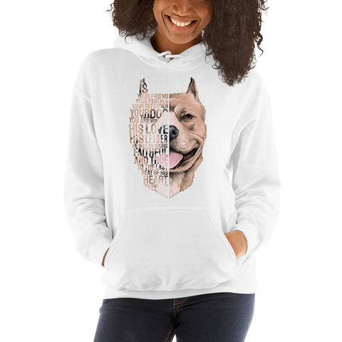 Pitbull - Best Friend Women Hooded Sweatshirt