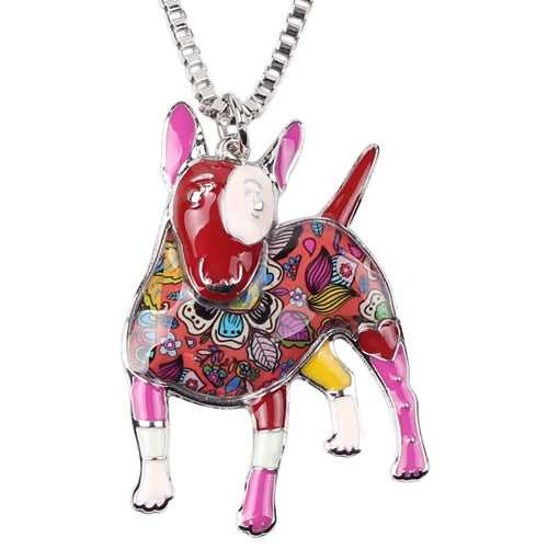 Bull Terrier Multicolor Necklace