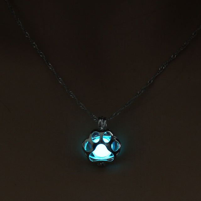 Glowing Dog Paw Pendant