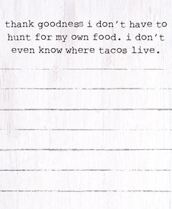 Tacos Mini Notepad