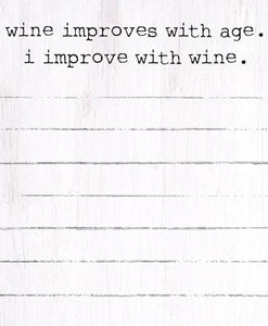 I Improve with Wine Mini Notepad