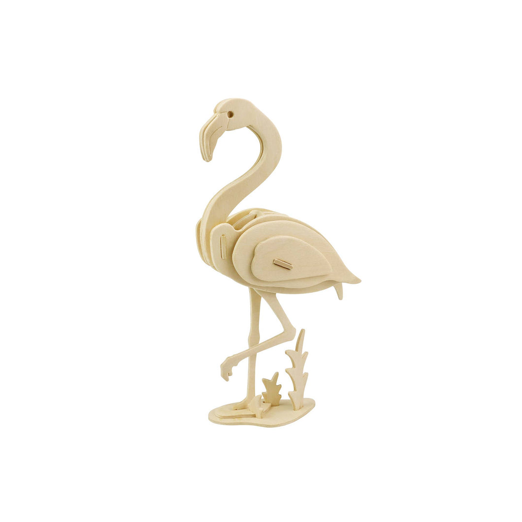 3D Wooden Flamingo Puzzle