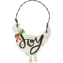 Load image into Gallery viewer, Joy Rooster Farm Animal Christmas Ornament