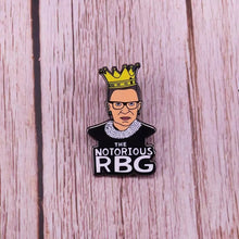 Load image into Gallery viewer, Notorious RBG Enamel Pin