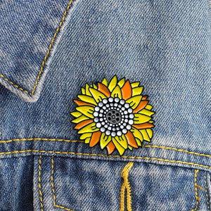 Sunflower Enamel Pin