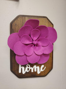 Felt Flower Wall Hanging - Time & Again Shop