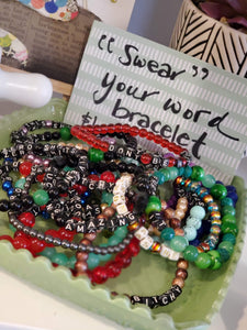 """Swear"" Your Word Bracelet - Time & Again Shop"