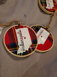 Flannel Indiana Ornaments - Time & Again Shop