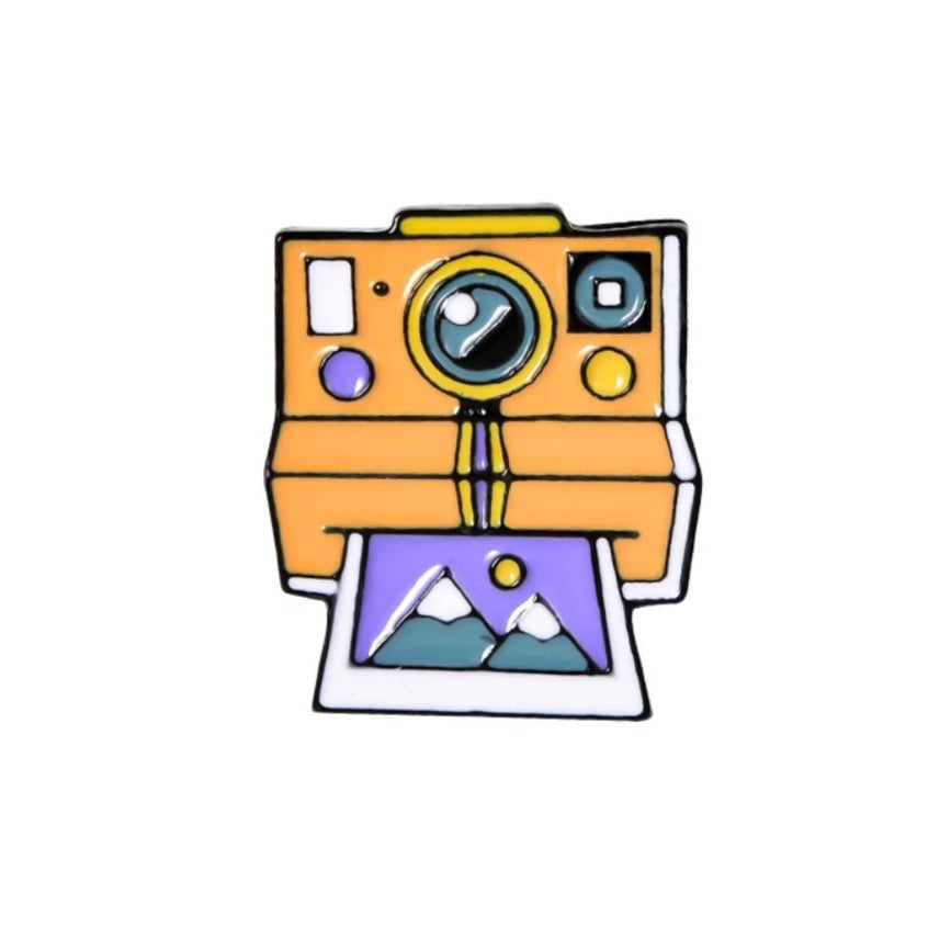 Instant Camera Enamel Pin