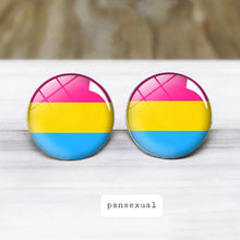 Load image into Gallery viewer, PanSexual Pride Stud Earrings