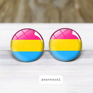 PanSexual Pride Stud Earrings