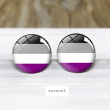 Load image into Gallery viewer, Asexual Pride Stud Earrings