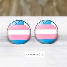 Load image into Gallery viewer, Transgender Pride Stud Earrings