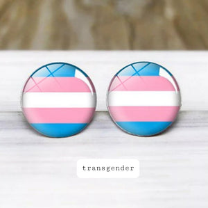 Transgender Pride Stud Earrings