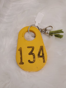 Cattle Ear Tag Keychain