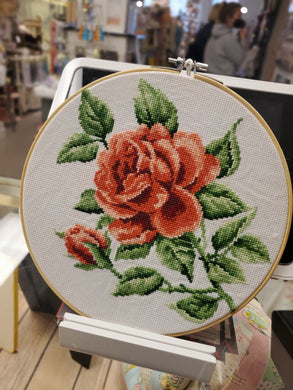 Red Rose Cross Stitch