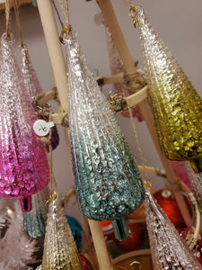 Speckled Ombre Tree Glass Ornament