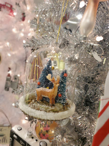 Domed Reindeer Ornament