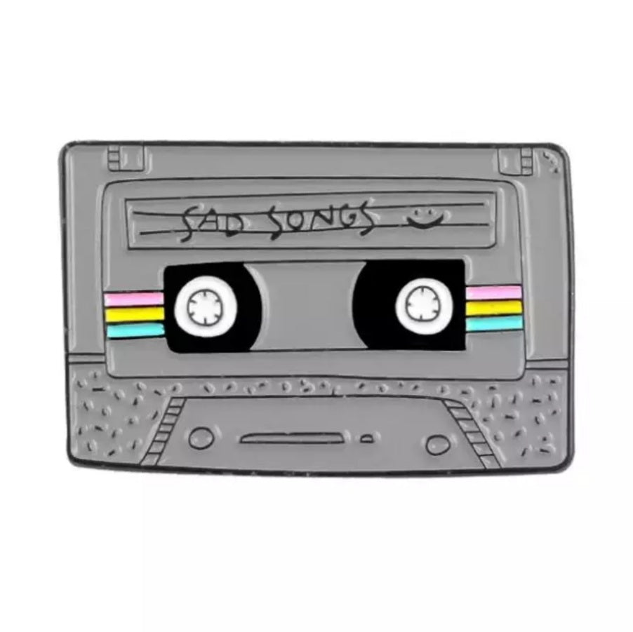 Sad Songs Cassette Tape Enamel Pin