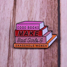 Load image into Gallery viewer, Good Books Make Enamel Pin