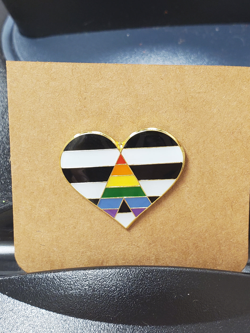 Ally Heart Enamel Pin