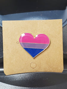 Bisexual Heart Enamel Pin