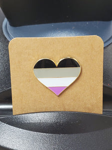 Asexual Heart Enamel Pin