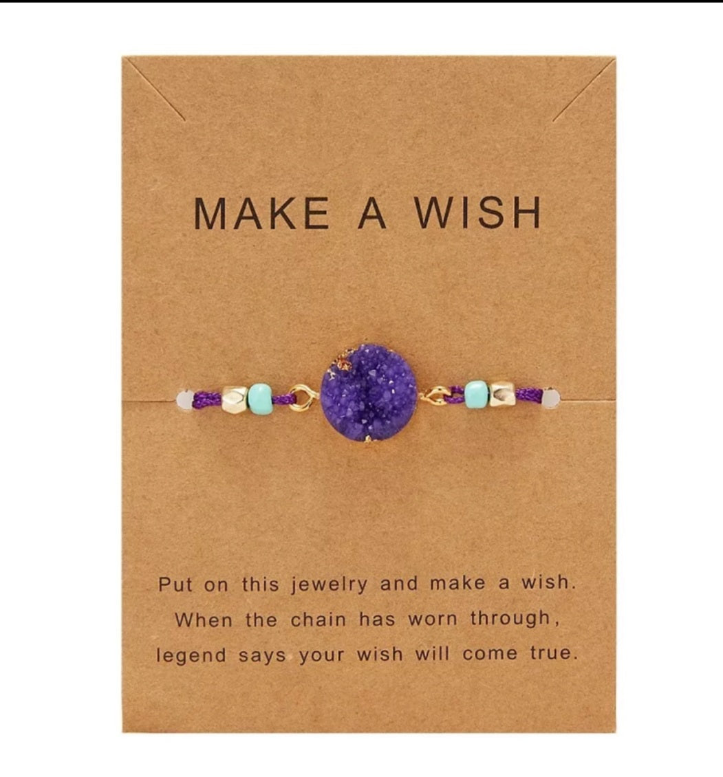 Purple Wish Bracelet