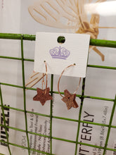 Load image into Gallery viewer, Copper Acrylic Star Earrings