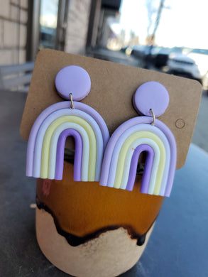 Boho Clay Rainbow Earrings