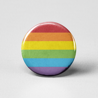 Rainbow Flag Pinback Button