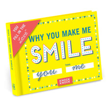 Load image into Gallery viewer, Why You Make Me Smile Fill in the Love Journal - Time & Again Shop