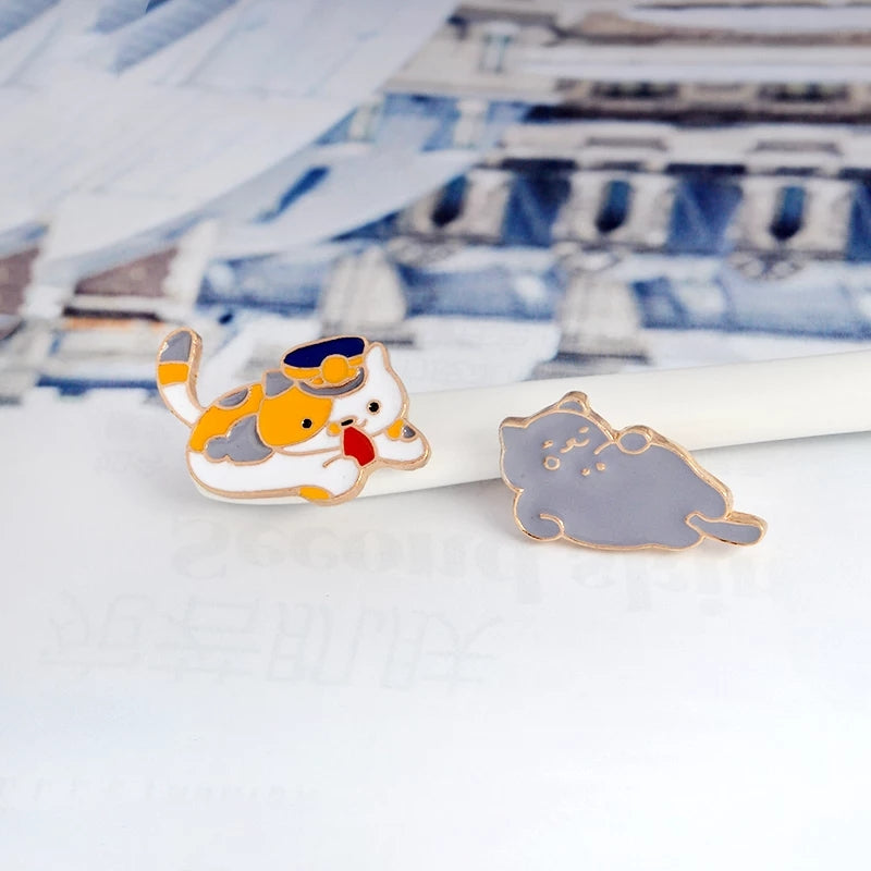 Cat Enamel Pin - Time & Again Shop