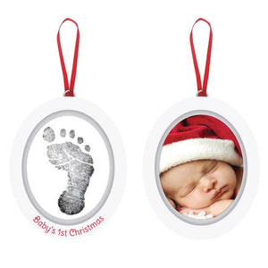Babyprints Photo Ornament, White