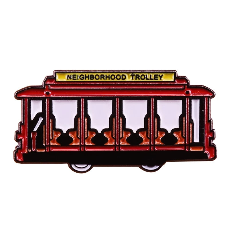 Mr Rogers Trolley Enamel Pin