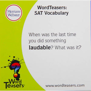 SAT Edition WordTeasers
